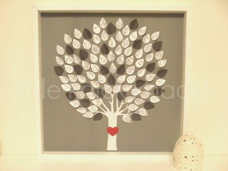 Gästebuch Baum Hochzeit,Jubiläum,Taufe,Kommunion von ....♥little knick knacks♥.... auf DaWanda.com