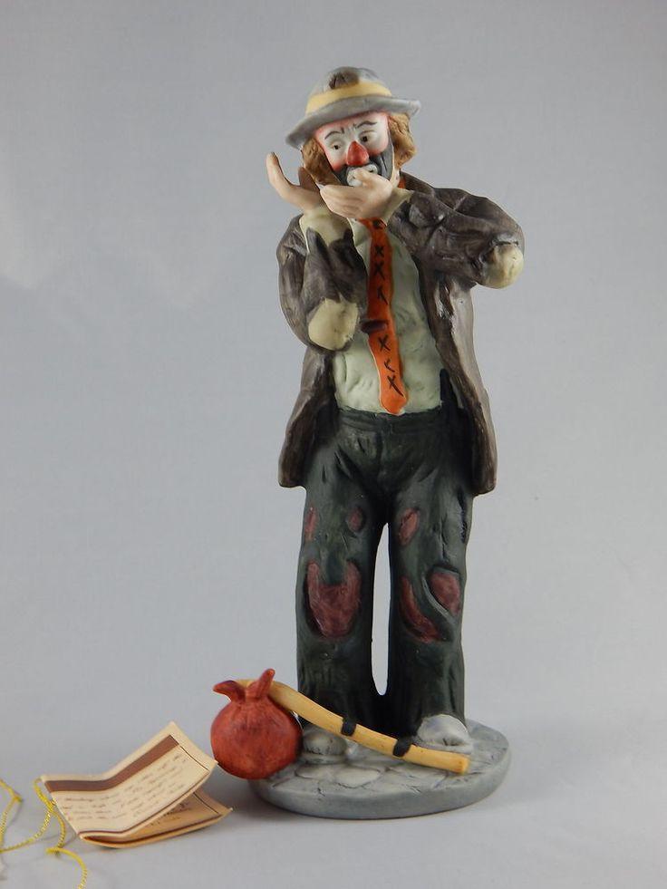 Flambro Emmett Kelly Jr. Sad Hobo Clown Figurine With Hobo ...