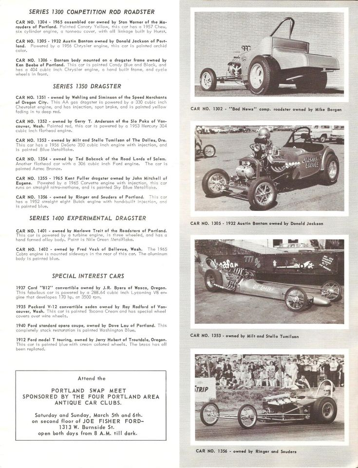 Great Oregon Racers - Page 5 - THE H.A.M.B.States Glories, Drag Racing, Silly Rally, Dominic Whipple, Dragracing Misc, Oregon Racers, Nostalgic Today