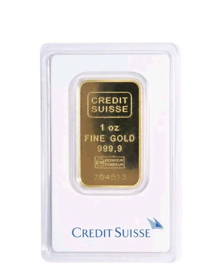 1 oz Gold Bar - Credit Suisse
