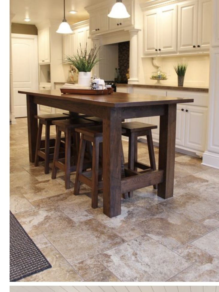 Pin By Chris Russo On Kitchen Rustic Kitchen Island Island Table Kitchen Island Table