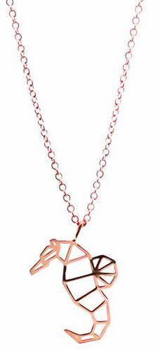 Dije de plata .925 con baño de oro rosa de 18k con cadena de 45cm con asa en 40cm para ajustar largo