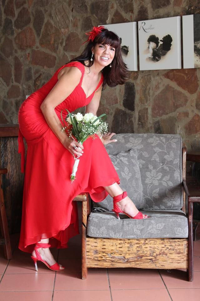 Lady in Red renewal of vows 30th wedding anniversary