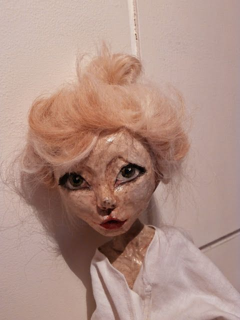 My first art doll sculpt in paper clay. I <3 the result.