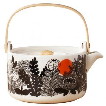 Marimekko's Oiva - Siirtolapuutarha tea pot