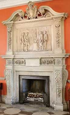 Pictured in the photo below, right, is the West Hall South Fireplace at Woburn Abbey.