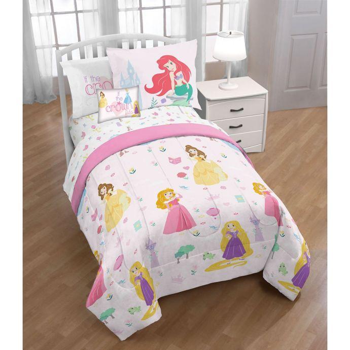 Disney Princesses 3 Piece Twin Full Comforter Set Bed Bath Beyond Shared Girls Room In 2019 Full Comforter Sets Comforter Sets Disney Princess Beddi