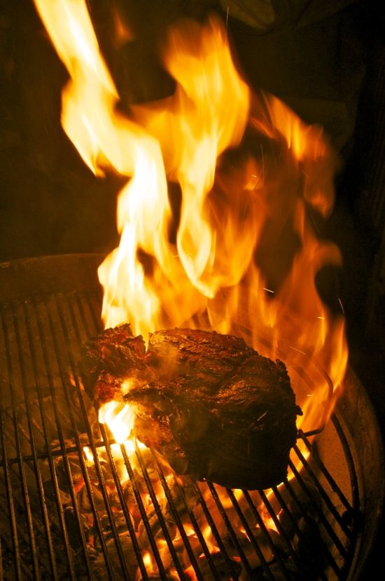 Flame Seared Prime Rib! One of the simplest things to do on the grill. Don't let this spendy cut of beef intimidate you.    Click the pic for step by step, picture by picture, foolproof instructions from the Grillin' Fools!