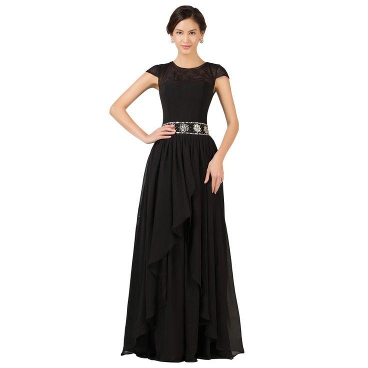 Čierne spoločenské šaty CL7520