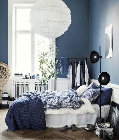 Överkast med stickningar | Mörkblå | Home | H&M SE
