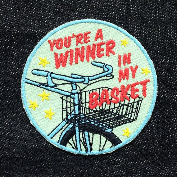 You're A Winner in my Basket Patch / Embroidered / Badge / Bicycle / Bike / Race
