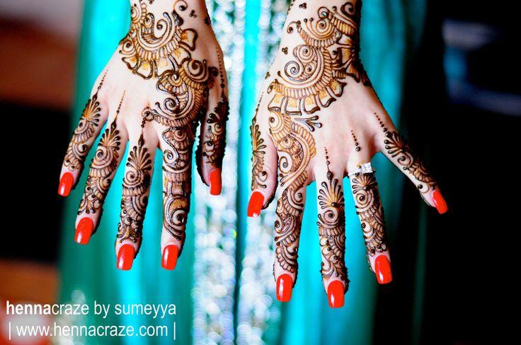 Henna'd hands for a very lovely bride to be. www.hennacraze.com