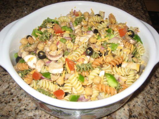 Easy Tri-Color Pasta Salad Recipe - Genius Kitchen