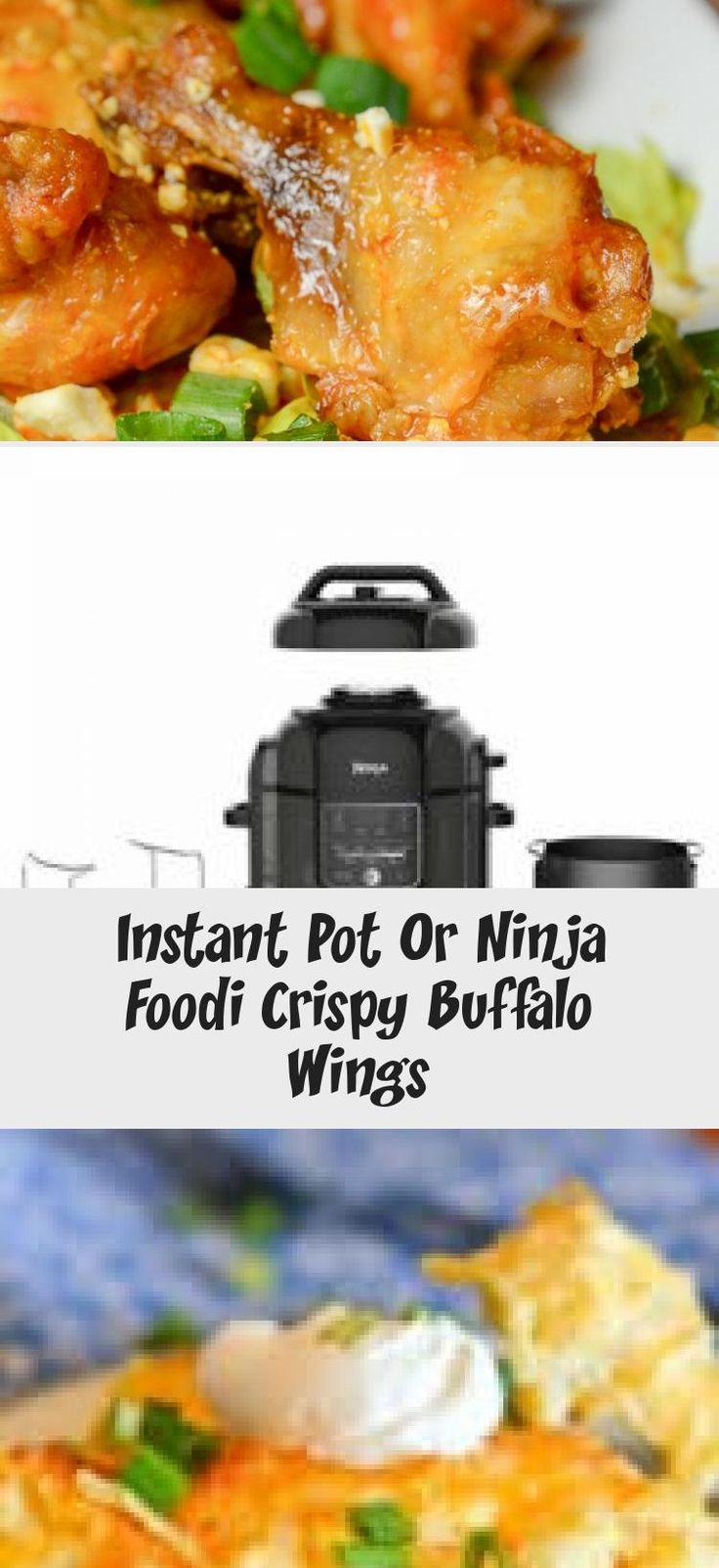 Instant pot or ninja foodi crispy buffalo wings via