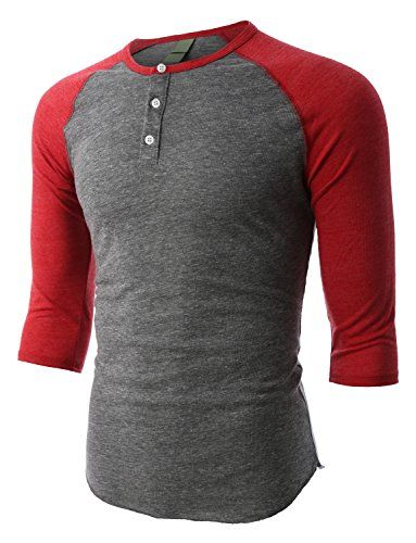 This slim fit raglan sleeve baseball button henley shirt combines comfort  with style. This lightweight, super comfy henley is crafted from an  extremely soft ...