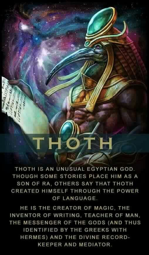 Mythology + Religion: Egyptian God Thoth | #Mythology #EgyptianMythology