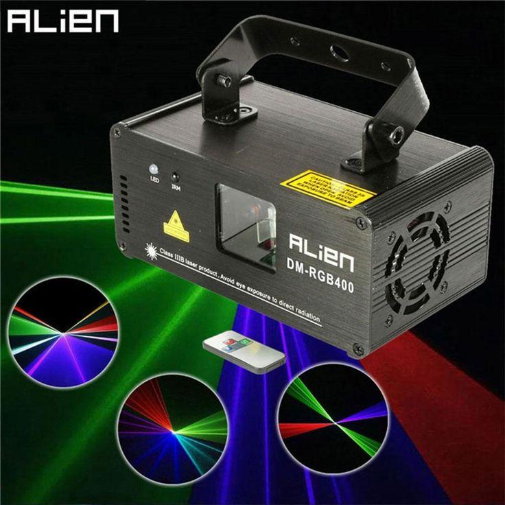 Laser Projecteur ALIEN Mini Led Rvb  Éclairage de Scène Effet DMX  avec Télécommande Lumiere Lumières Disco Dj Party