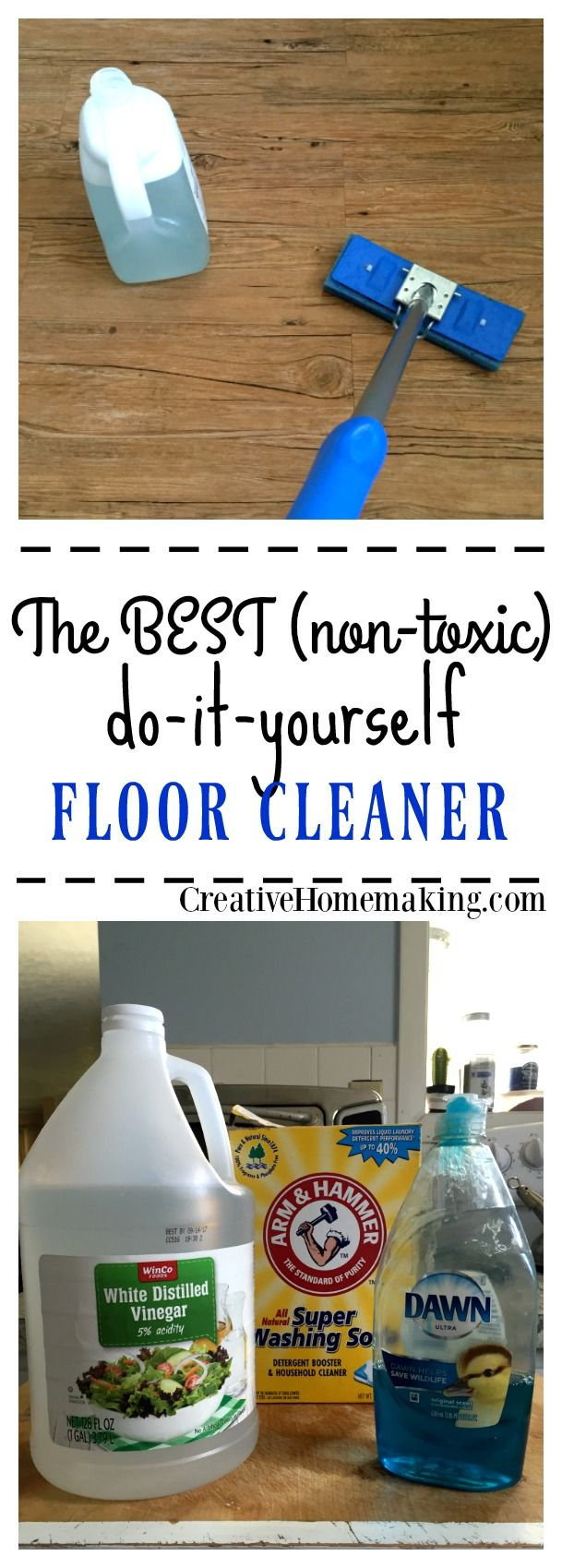 Homemade floor cleaner for tile and laminate floors