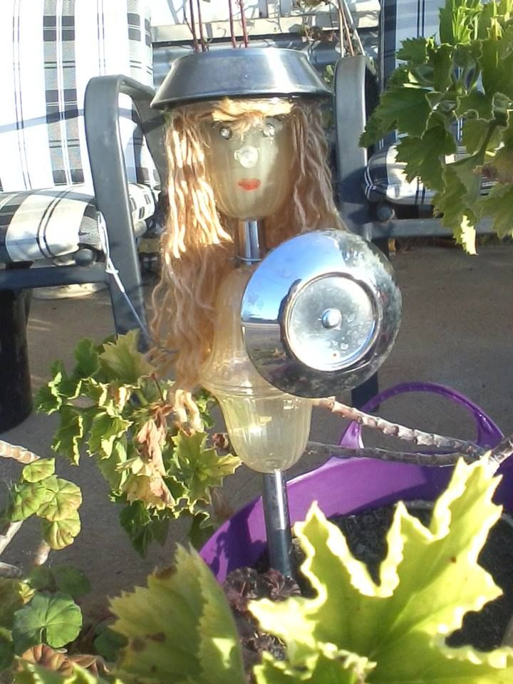 Girl Made from old solar lights