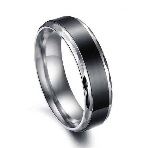 Titanium Stainless Steel Black Vintage Love Couple Wedding Bands Mens Ladies Ring for Engagement, Promise, Eternity Tungsten Love. $9.99. Width: 6mm for male; 4mm for female. Weight: 5g for male; 2g for female. List price is for one ring only. Purchase two rings for a matching set.. 316L Stainless Steel. Different Sizes Available