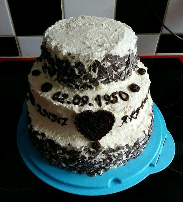Torte 65. Hochzeitstag
