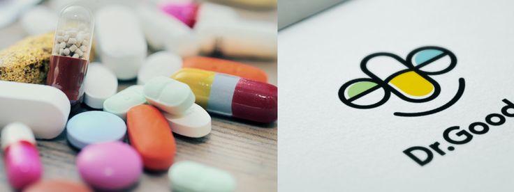 """""""Dr. Goody"""" - персональный логотип для детского терапевта из Сан-Диего. Дизайнер - Ольга Шу. #логотип #доктор #медицина #таблетки #пилюли #врач #doctor #medicine #pill #pills #treatment #logo #лого #дизайн #design #logodesign #logotype #tailroom #inspiration"""