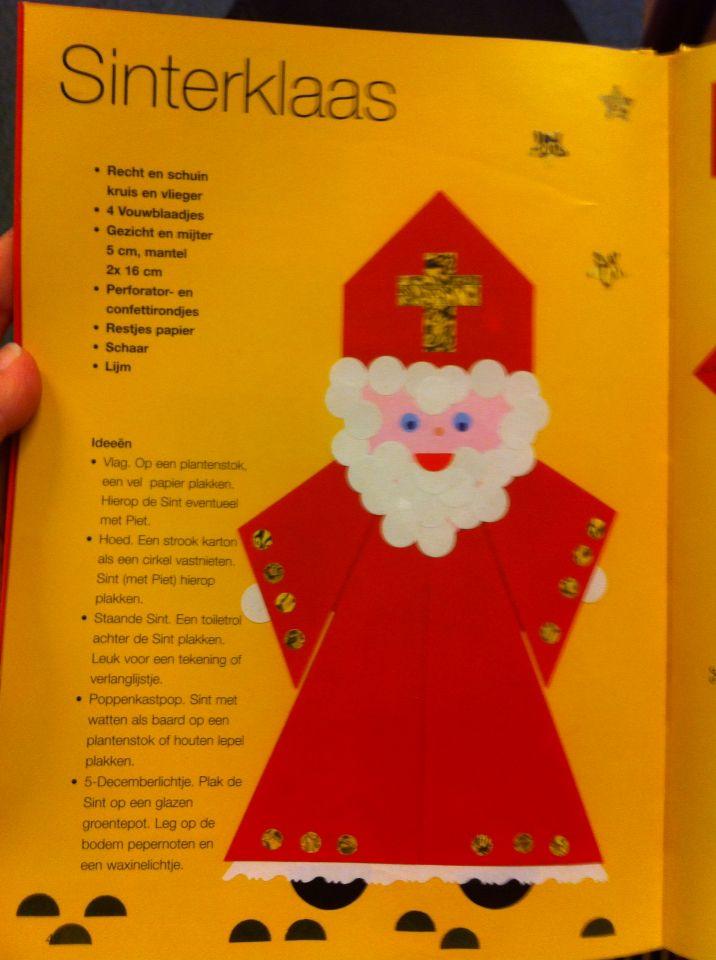 Sinterklaas vouwen 1