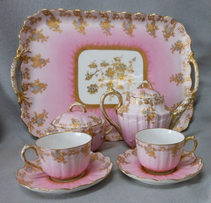 Antique French Limoges Breakfast set