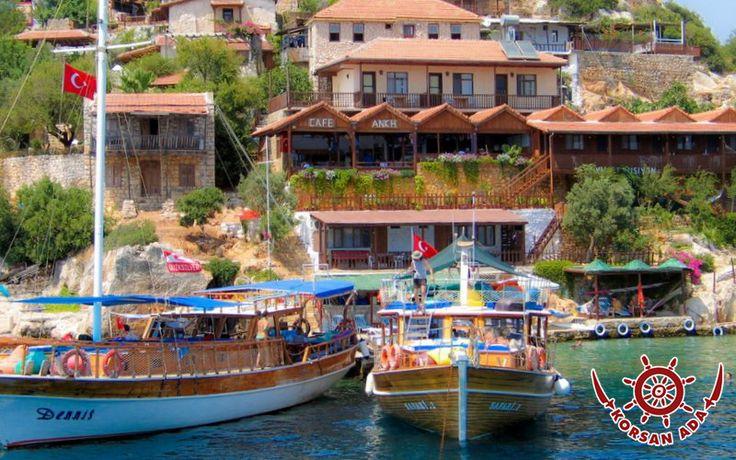 Antik Likya Kentlerinden Simena(Kaleköy),karayolu bağlantısı olmadığından sadece denizden ulaşılıyor.  www.korsanadahotel.com  #kaşotel #hotelkaş #kaşotelleri #korsanadahotel