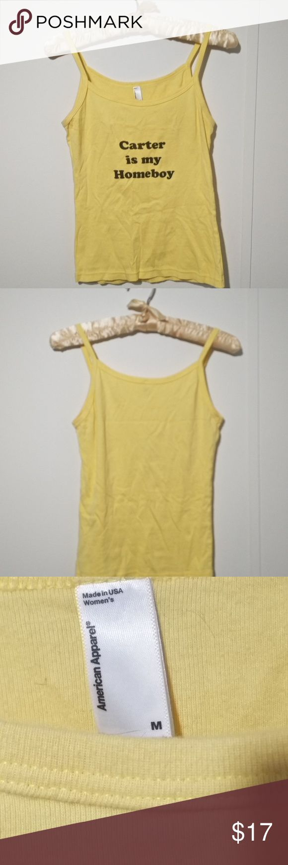 jimmy carter brew beer tank m yellow cami homeboy Jimmy Carter is my Homeboy yellow tank camisole.  Worn only once. Tops Tank Tops