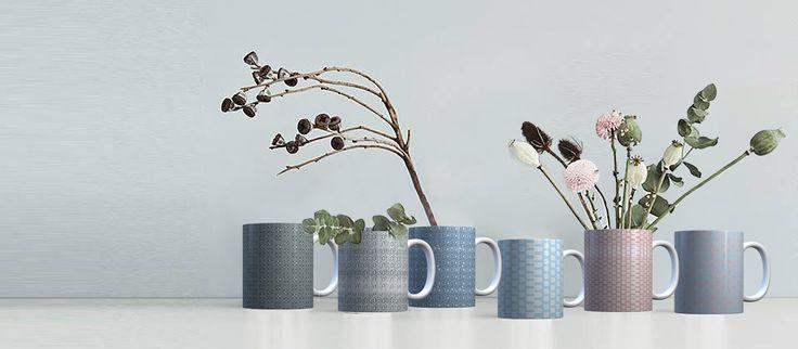 Assortiment de mugs scandinaves