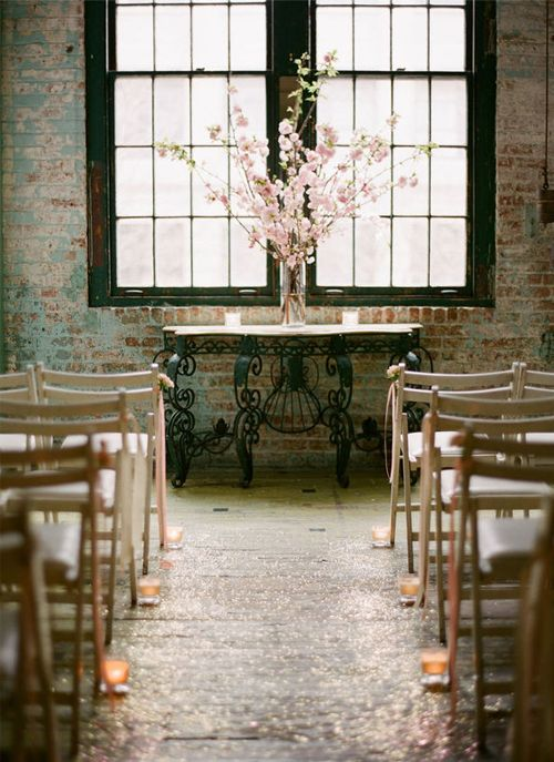 simple + lovely ceremony decor