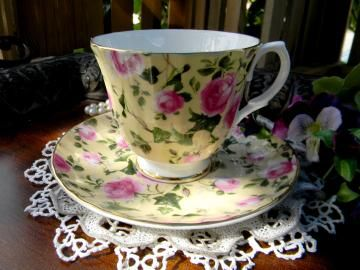 #Chintz Teacup and Saucer -#RoyaleGarden Tea Cup 10879 by #TheVintageTeacup for $19.00