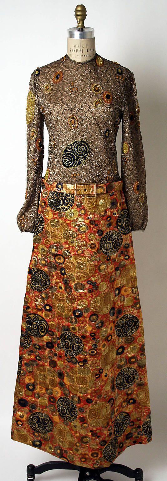 Dress James Galanos (American, born Philadelphia, Pennsylvania, 1924) Date: fall/winter 1969–70 Culture: American Medium: metal Dimensions: ...
