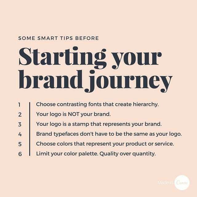 Starting a brand
