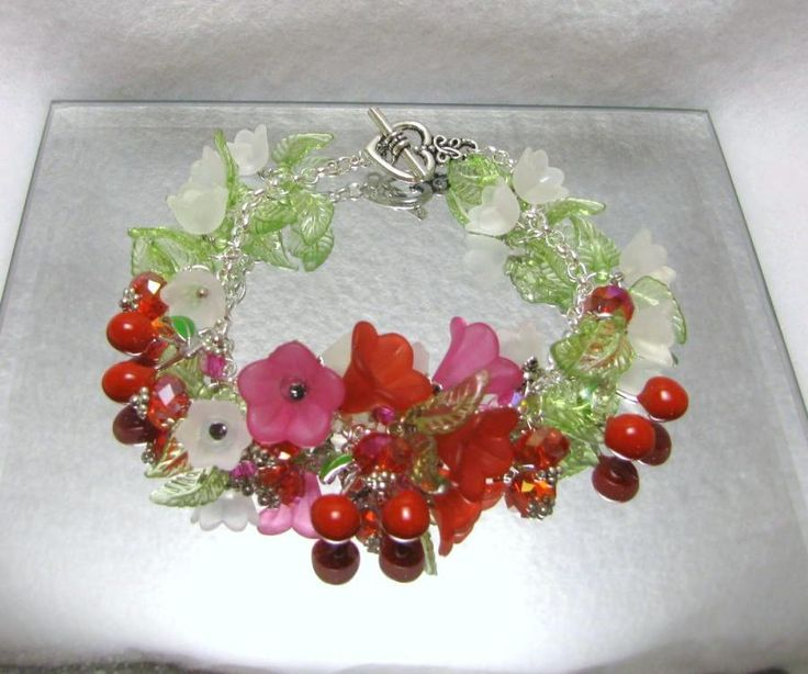 Blossoming Cherries - Jewelry creation by Linda Foust