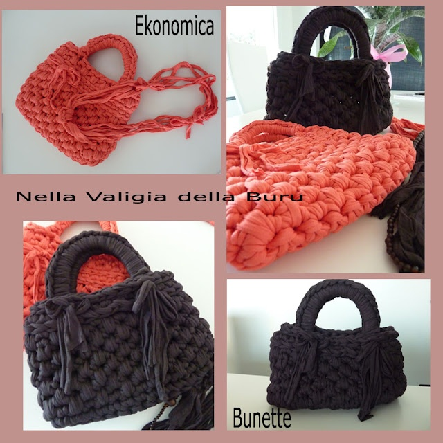 269 best bags purses co to knit or crochet images on for Borse fettuccia uncinetto tutorial