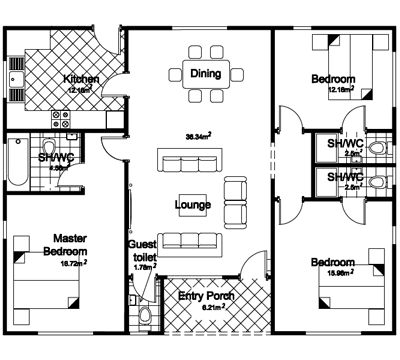 find this pin and more on bungalow floor plans - Bungalow Floor Plans