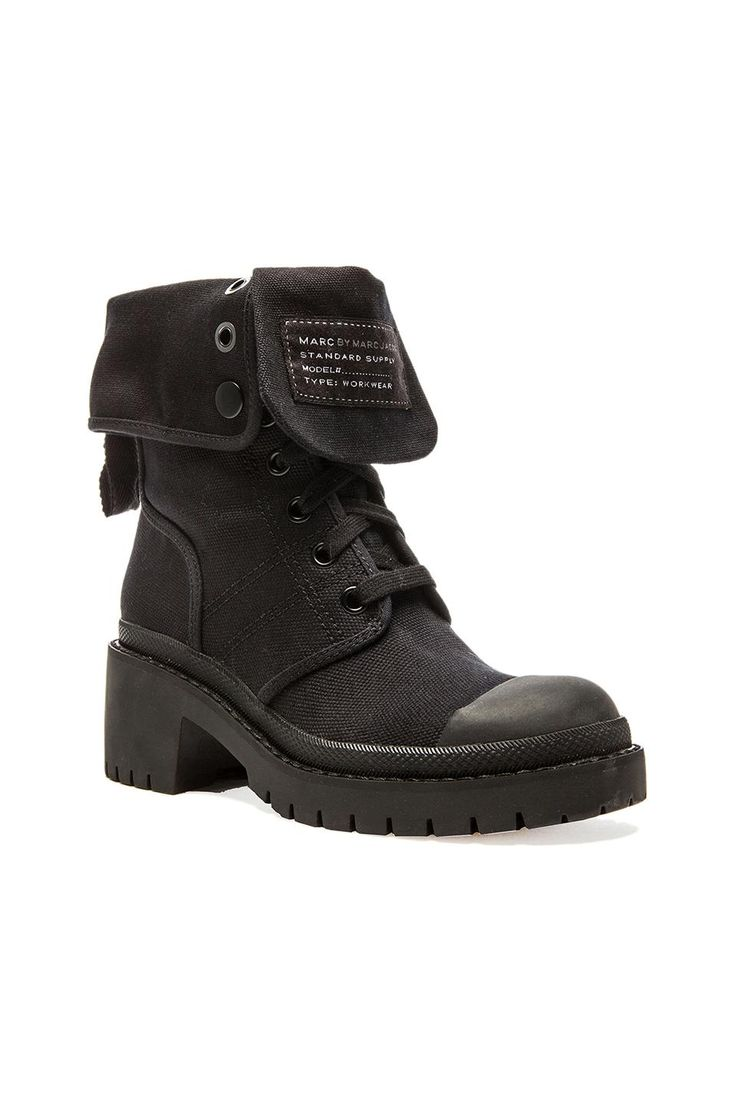 Marc by Marc Jacobs Army Boot in Black