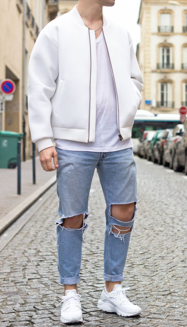 nike air huarache with jeans
