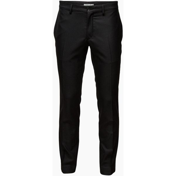 JACK & JONES North Trousers ($98) ❤ liked on Polyvore featuring men's fashion, men's clothing, men's pants, men's dress pants, pants, men, black, guy clothes, mens zipper pants and mens slim fit dress pants