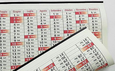 Calendario planner planning da parete 2017 + 2018 da muro maxi