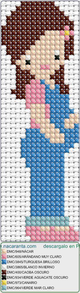 embarazada EN PUNTO DE CRUZ, cross stitch pattern
