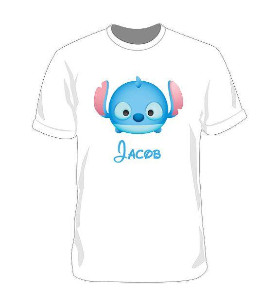 T Shirt Disney Stitch Tsum Tsum Iron On Transfer Printable