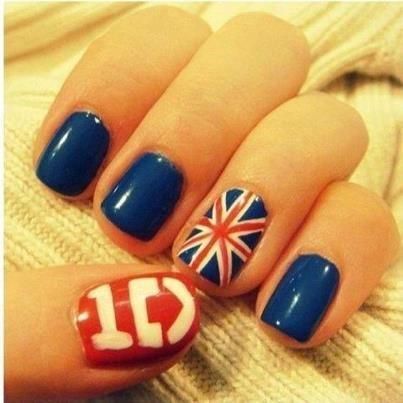 Uñas británicas de 1D