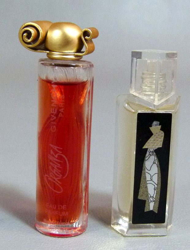 Vintage French Givenchy Organza & Hot Couture Perfume Glass Bottle Miniature Full | eBay