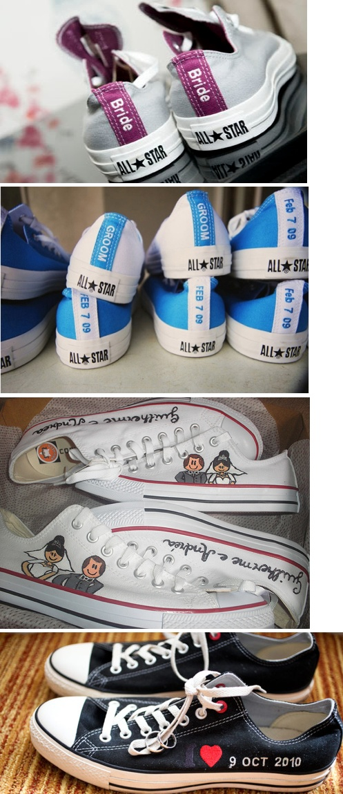 Mike and I are lovin' the custom chucks- maybe Mike and I will splurge for the reception/ for us to keep after??