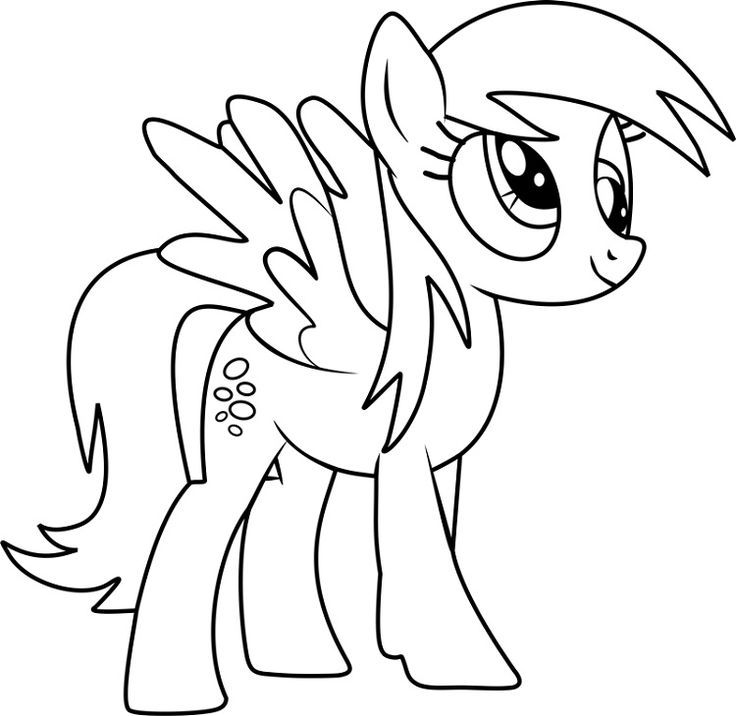 Coloring Picture Little Pony