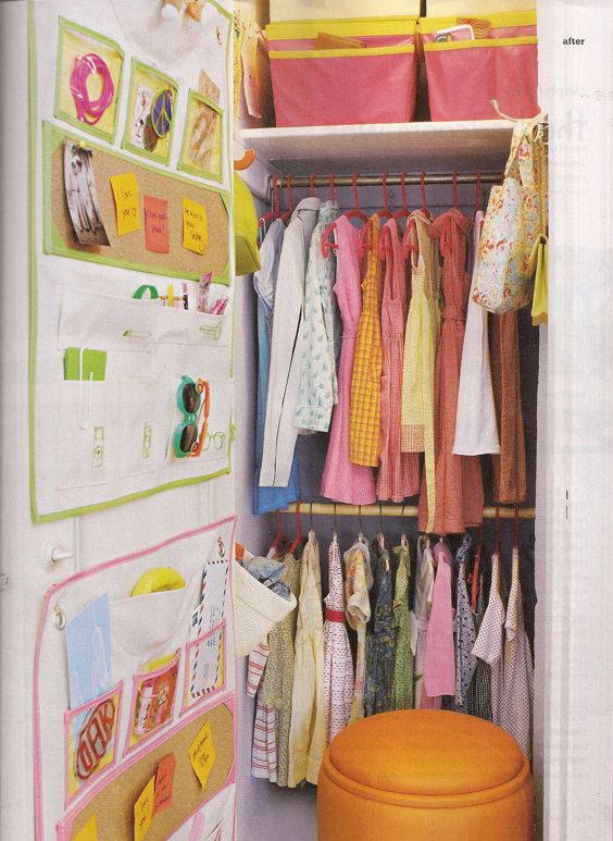 corky wall organizer: storage added to the back of the door