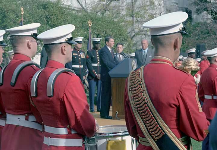 "Happy Birthday to the Marine Corps! As Ronald Reagan said on November 10th 1986, ""The Marine Corps motto is Semper Fidelis, ""Always Faithful."" It's a motto. It's also a tradition -- a tradition as old as our blessed Republic and as young as the newest Marine. A tradition of which all Americans are proud. And so, to all who are first to fight for right and freedom, America today says thank you, happy birthday, and God bless you."" #MarineCorpsBirthday"